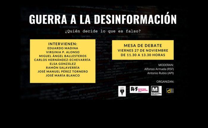 Directo | Debate sobre desinformación y libertad de prensa