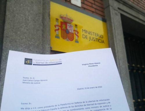 La PDLI pide al Gobierno actuar para acabar con las vulneraciones de la libertad de expresión