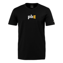 Camiseta de hombre negra con el logo de PLI